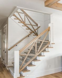 Cool 41 Antique Staircase Design Ideas For Home. A staircase is an important part of a house. It helps the inhabitants of the house to access other parts … Home, Farmhouse Stairs, House Design, Staircase Design, New Homes, Entryway Decor, Basement Design, Rustic Entryway, Luxury Interior Design