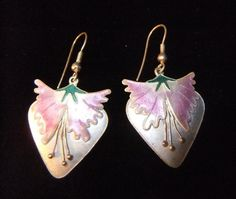 Vintage Thousand Flowers Pink and White Enamel and by BriarPacific