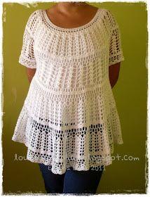 louca por linhas - crochet e patchwork: E, finalmente, a minha bata!