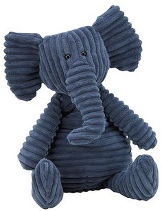 Another lovely stuffed toy from Jellycat! Cordy Roy Elephant is exactly what you might expect: an adorable stuffed elephant made of super-soft corduroy!