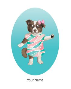 Kids Room Puppy Dog Art Print Nursery Decor Dog by TheButtonBird