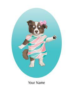 Kids Room Puppy Dog Art Print Nursery Decor Dog by TheButtonBird