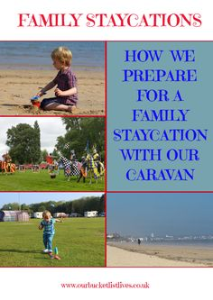 Advice and tips for how we prepare for a family staycation with our caravan.