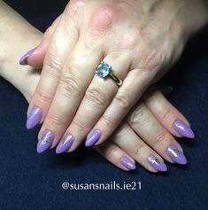 Gel nails - purple shimmer salon  style
