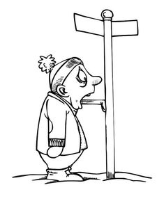 A Guy Tongue Stick To Frozen Road Sign On Winter Coloring Page - Download & Print Online Coloring Pages for Free | Color Nimbus Online Coloring Pages, Colouring Pages, Printable Coloring Pages, Free Coloring, Coloring Pages For Kids, Coloring Sheets, Colour Images, Winter Season, Frozen