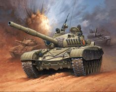 Tanks Painting Art T 72 M1/DDR  Army