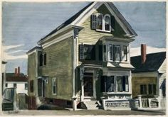 dionyssos:  Edward Hopper  Anderson's house  Year 1926 Watercolor over graphite on paper