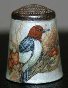 Vintage Hallmarked Silver and Enamel Thimble Woodpecker SM Co Birmingham 1979 | eBay Jul 02, 2013 / GBP 41.00 / 2,051.35 RUB
