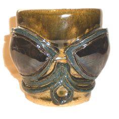 Cthulhoid Eye Cup  Hand-built coffee mug by Aaron Nosheny / Aberrant Ceramics #cthulhu