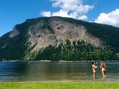 Canoe Beach near Salmon Arm, BC (on Shuswap Lake)