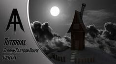 Cinema 4D | Tutorial | Spooky Cartoon House (part.1)