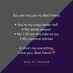 Lucky to have my di as my bff my everything 🥰😘🥰 Friend Love Quotes, Besties Quotes, Girly Quotes, True Quotes, Funny Quotes, Story Quotes, Bestfriends, Friend Sayings, Qoutes