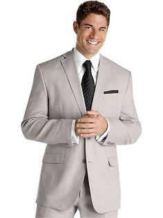 Suits & Suit Separates - Calvin Klein Light Gray Linen Suit - Men's Wearhouse