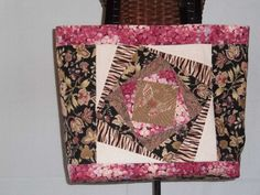 Quilted Tote Bag by PatsysPatchwork on Etsy, $28.00