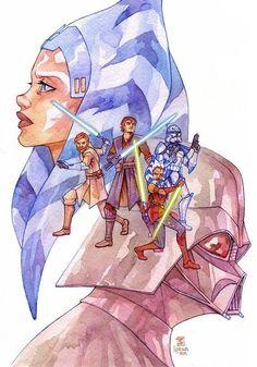 Star Wars Love, Star Wars Fan Art, Star Wars Rebels, Star Wars Clone Wars, Star Wars Episode 2, Nerd, Ahsoka Tano, Star Wars Wallpaper, Disney Stars