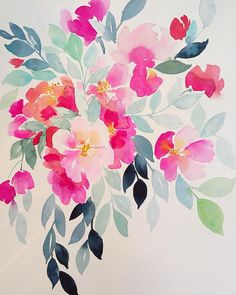 love the natural simplicity of watercolor florals
