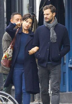 Jamie Dornan Out With His Wife in London October 2015 | POPSUGAR Celebrity