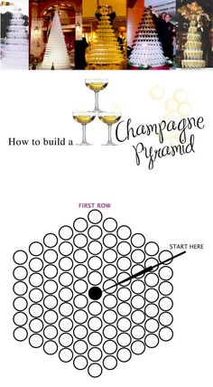 Miss Charmings Champagne Pyramid page : How to build a champagne pyramid