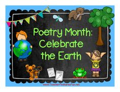 Poetry Month: Celebrate the Earth (20 Poetry Frames) from Teacher Features on TeachersNotebook.com -  (26 pages)  - 20 poetry frames + nature themes = A great way to celebrate Poetry Month and Earth Day in April!