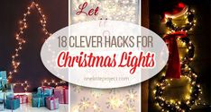 18 Clever Hacks for Christmas Lights Christmas Canvas, Old Christmas, Christmas Balls, Christmas Crafts, Diy Mason Jar Lights, Mason Jar Diy, Christmas Lights Etc, Christmas Card Display, Burlap Garland