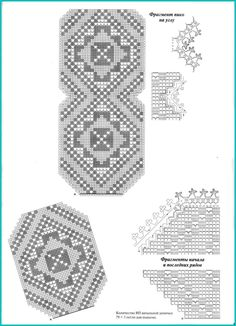 Variedades de crochês com gráficos