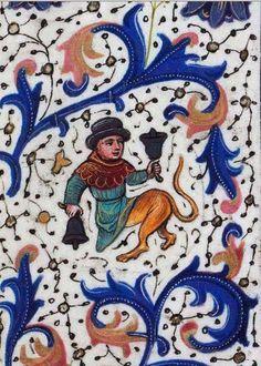 Tocando las campanas. Libro de Horas de Leonor de la Vega f. 139v. http://bdh-rd.bne.es/viewer.vm?id=0000048889 @BNE_biblioteca