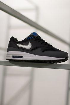 Nike Air Max 1 GS Black/Metallic Silver