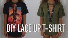 DIY No Sew Lace Up T-Shirt   Zalie Cannonier