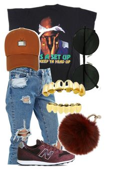 """Untitled #82"" by trillqueen34 ❤ liked on Polyvore featuring ASOS, New Balance and Yves Salomon"