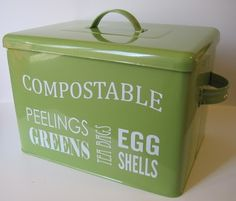 I think we're ready for a counter top compost bin upgrade... Maybe something like this?