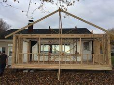 Framing cottage porch