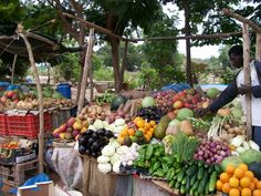 Fruitstand in Banjul, The Gambia - a picture I took while there visiting a friend.