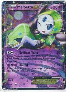 Pokemon Card Legendary Treasures Rare Holo Meloetta EX RC11/RC25 FREE COMB S&H