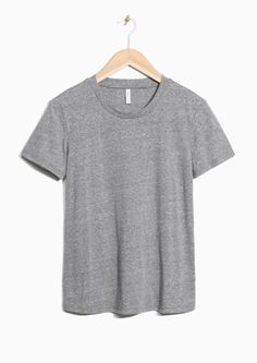 & Other Stories image 2 of Cotton T-shirt in Grey