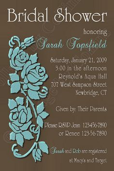 Tiffany Blue Wedding invitation - convert the idea to wedding