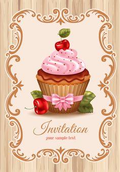 cupcake vintage vector - Google'da Ara