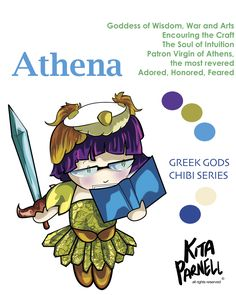 Athena! My favorite goddess ever! Athena was born from a head tumor on Zeus, popping out, fully decked in Armor! Cool! She is the goddess of wisdom, the arts, and war. However she only participated in state/country battles defending the public. Amongst the Greek public favorites and most beloved, her symbols include the Olive tree and Owls. DOUBLE COOL