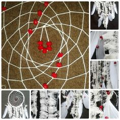 "Dreamcatcher ""Cranberries in cream"" by CatWorkshopDream on Etsy"
