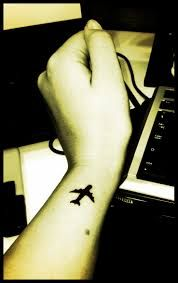 airplane tattoo, this would be so cool to have, as I always wear the airplane necklace