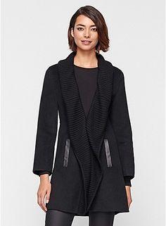 Eileen Fisher Plus Size Shawl Collar Coat