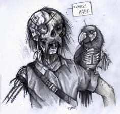 Cyborg Zombie Pirate by TmoeGee on deviantART
