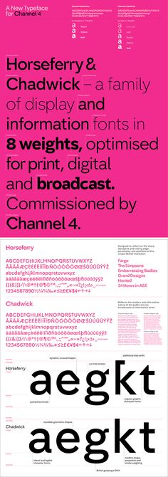 Channel 4's new brand identity and typeface by 4Creative - Great Example of displaying typographic choices in a professional manner.
