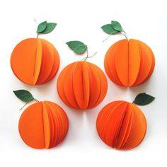 Orange Notebook by palasxpandiras on Etsy Toddler Crafts, Preschool Crafts, Baby Chart, Book Binder, Pumpkin Crafts, Birthday Decorations, Fall Decorations, Book Making, Bookbinding