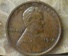 1914 1C RB Lincoln Cent