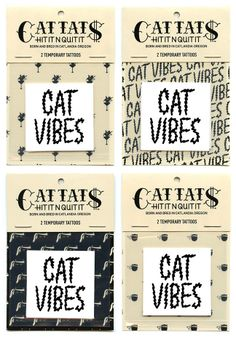 Cattats Cat Vibes Temporary Cat-themed Tattoos I Cat tats Cattats.com – CatTats