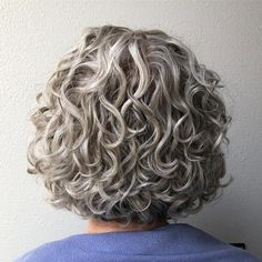 50 Modern Haircuts for Women over 50 with Extra Zing - long pixie hairstyles - Awesome Curly Gray Bob Who says curls can't be symmetrical and organized? If you are a curly - Bob Haircut Curly, Short Curly Haircuts, Bob Haircuts For Women, Haircut For Older Women, Modern Haircuts, Curly Bob Hairstyles, Short Hair Cuts For Women, Curly Short, Curly Bob Haircuts