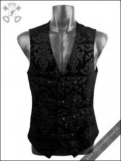 Damask Gothic men's punkrave vest Y-452 | Gothic, Steampunk, Rock, Fetish, and other Alternative fashion retail and wholesale apparel & acce...