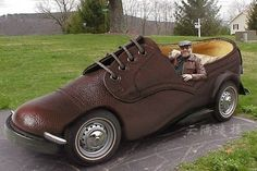 "Very unusual ""shoe"" car"
