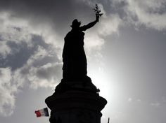 January 2015 / Paris is Charlie Cloudy Weather, Charlie Hebdo, Shadow Silhouette, Le Far West, France, Photos Du, Statue Of Liberty, January 7, National Flag