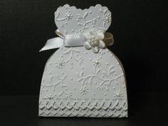 Set of 10 Embossed Bride Dress Wedding Favor Boxes by Parischick, $40.00